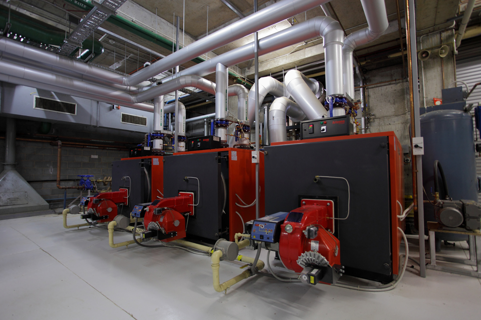 Commercial Boilers plant room